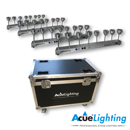 Focus 8 LED Pinspot Bar Package
